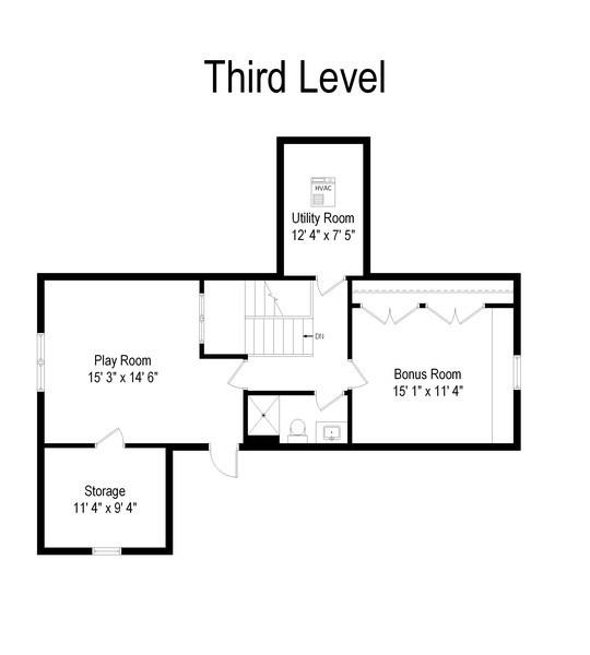 Real Estate Photography - 1301 Chestnut Avenue, Wilmette, IL, 60091 - Floor Plan