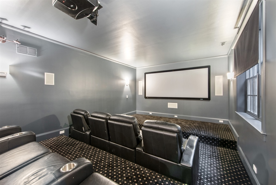 Real Estate Photography - 1301 Chestnut Avenue, Wilmette, IL, 60091 - Home Theater