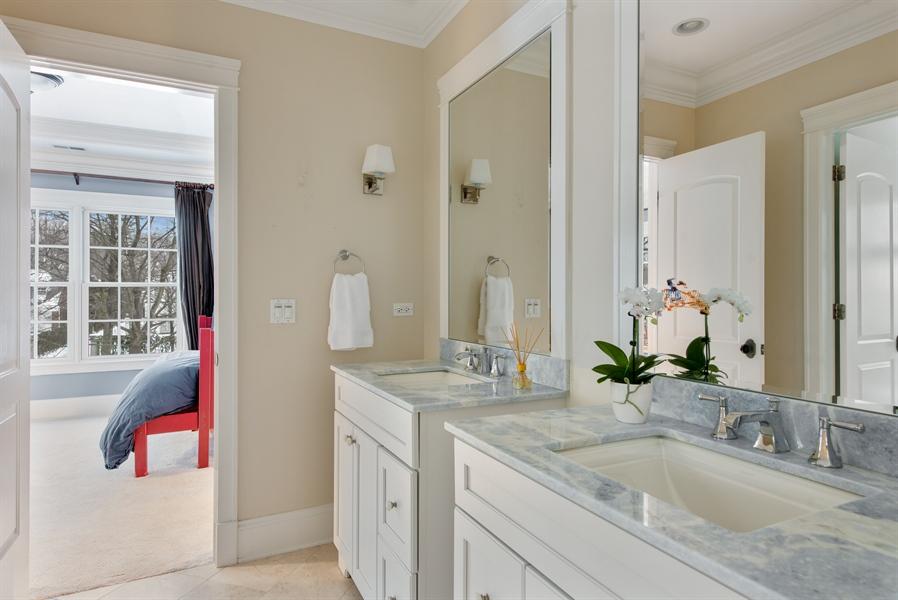 Real Estate Photography - 1301 Chestnut Avenue, Wilmette, IL, 60091 - 2nd Bathroom