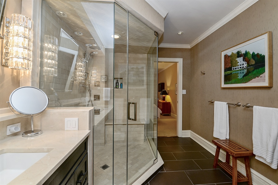 Real Estate Photography - 1120 N. Lakeshore Drive, 2B, Chicago, IL, 60611 - Master Bath