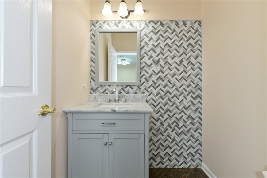 Real Estate Photography - 4115 Stableford, Naperville, IL, 60564 - 1st Floor Half Bathroom
