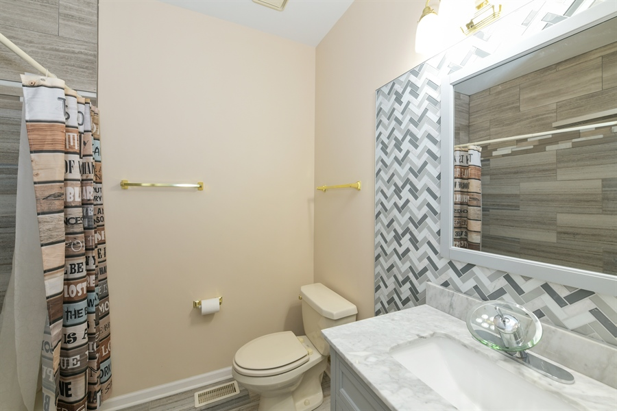 Real Estate Photography - 4115 Stableford, Naperville, IL, 60564 - 2nd Floor Hall Bathroom