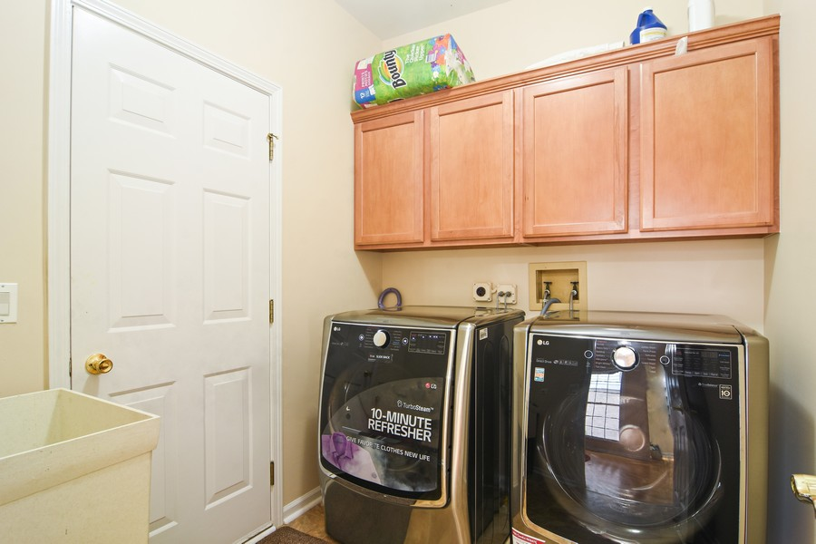Real Estate Photography - 4115 Stableford, Naperville, IL, 60564 - 1st Floor Laundry