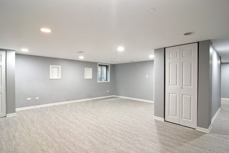 Real Estate Photography - 4115 Stableford, Naperville, IL, 60564 - Finished Basement Rec Room