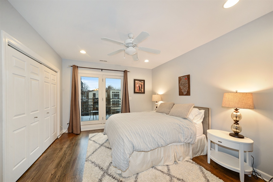 Real Estate Photography - 3221 N. Clifton, 3S, Chicago, IL, 60657 - Master Bedroom