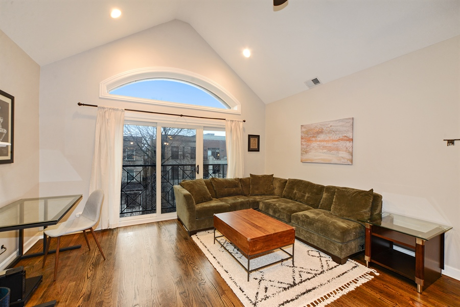 Real Estate Photography - 3221 N. Clifton, 3S, Chicago, IL, 60657 - Living Room
