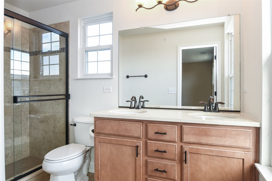 Real Estate Photography - 3301 Coral, Glenview, IL, 60026 - Master Bathroom