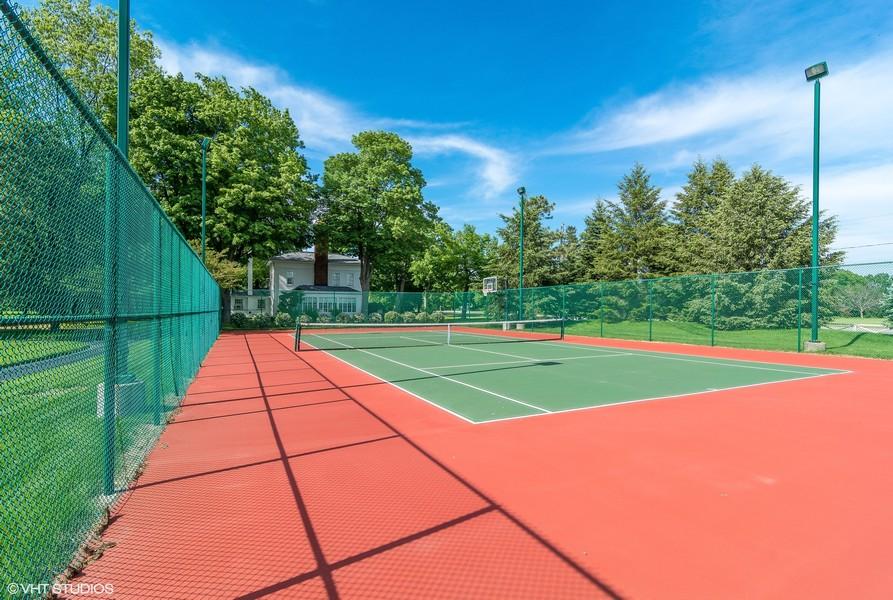 Real Estate Photography - 3457 Bluegrass Way, St. Joseph, MI, 49085 - Tennis & Basketball Court
