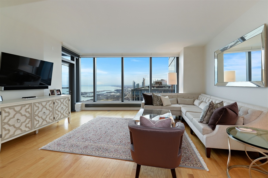 Real Estate Photography - 60 E. Monroe Ave, 5403, Chicago, IL, 60603 - Living Room