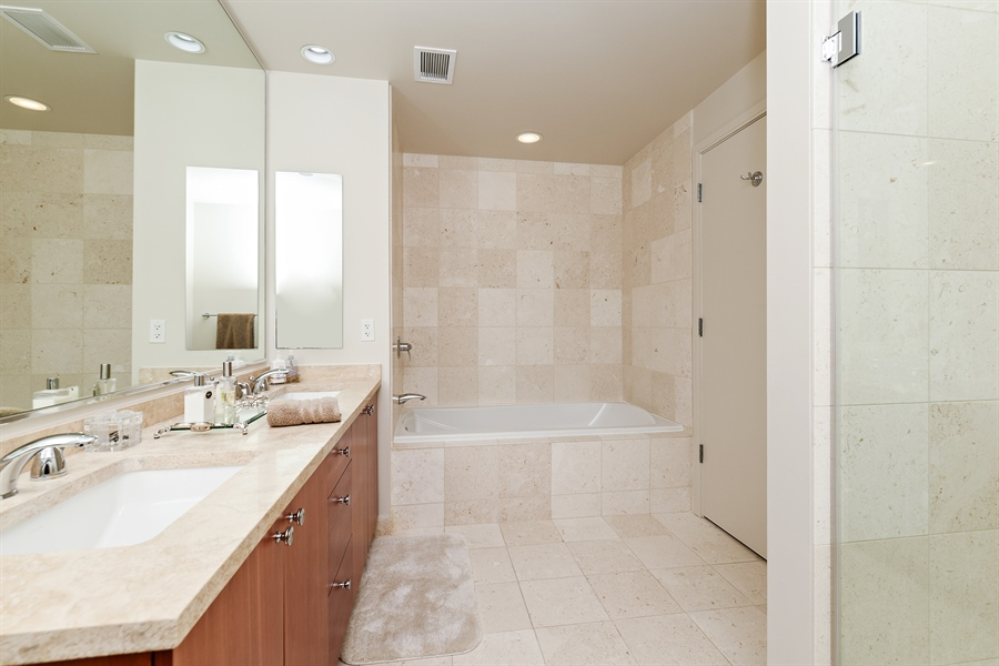 Real Estate Photography - 60 E. Monroe Ave, 5403, Chicago, IL, 60603 - Master Bathroom