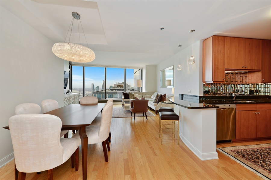 Real Estate Photography - 60 E. Monroe Ave, 5403, Chicago, IL, 60603 - Great Room