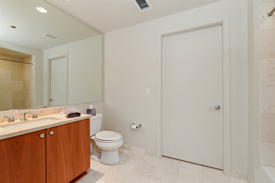 Real Estate Photography - 60 E. Monroe Ave, 5403, Chicago, IL, 60603 - 2nd Bathroom