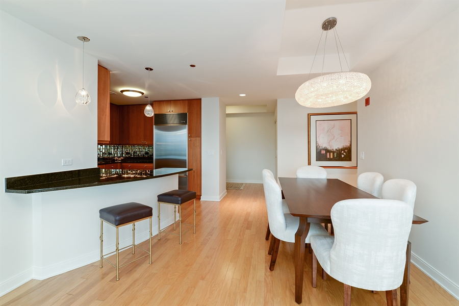 Real Estate Photography - 60 E. Monroe Ave, 5403, Chicago, IL, 60603 - Kitchen / Dining Room