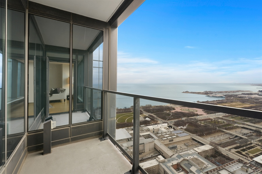 Real Estate Photography - 60 E. Monroe Ave, 5403, Chicago, IL, 60603 - Balcony