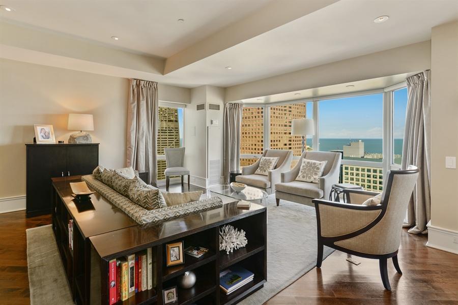 Real Estate Photography - 100 E Huron St, Unit 3904, Chicago, IL, 60611 - Living Room
