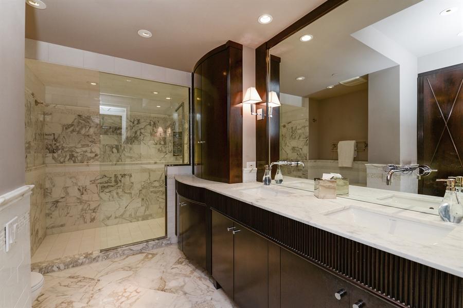 Real Estate Photography - 100 E Huron St, Unit 3904, Chicago, IL, 60611 - Master Bathroom
