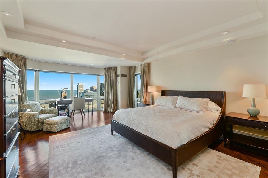 Real Estate Photography - 100 E Huron St, Unit 3904, Chicago, IL, 60611 - Master Bedroom