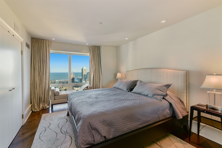 Real Estate Photography - 100 E Huron St, Unit 3904, Chicago, IL, 60611 - 2nd Bedroom