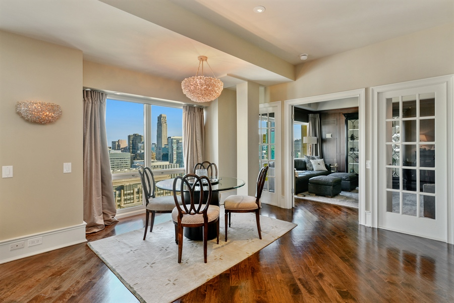 Real Estate Photography - 100 E Huron St, Unit 3904, Chicago, IL, 60611 - Dining Room