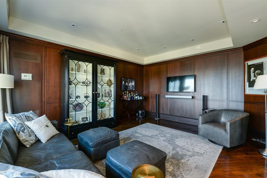 Real Estate Photography - 100 E Huron St, Unit 3904, Chicago, IL, 60611 - Family Room