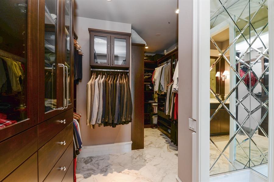 Real Estate Photography - 100 E Huron St, Unit 3904, Chicago, IL, 60611 - Master Bedroom Closet
