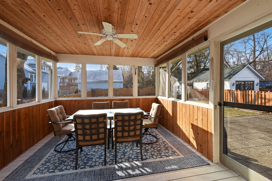 Real Estate Photography - 339 E Russell St, Barrington, IL, 60010 - Screened Porch