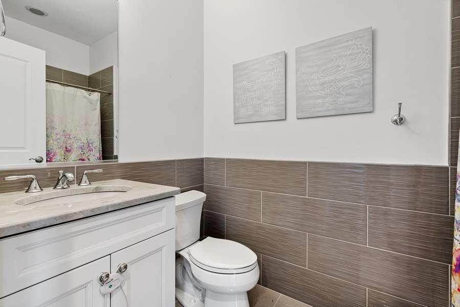 Real Estate Photography - 3023 N Hamilton Ave, Chicago, IL, 60618 - 2nd Bathroom
