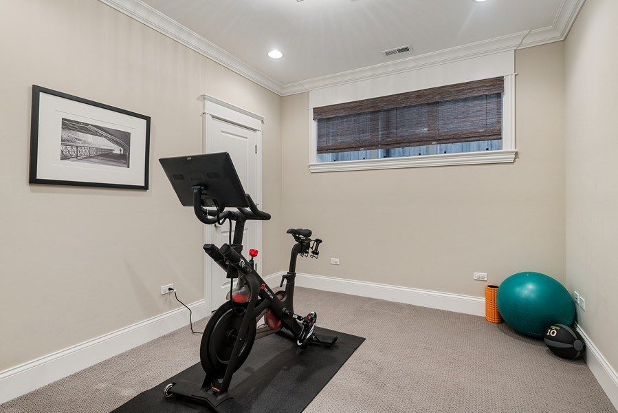 Real Estate Photography - 3023 N Hamilton Ave, Chicago, IL, 60618 - 6th Bedroom/Office/Fitness Room
