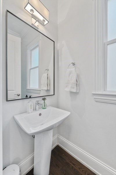 Real Estate Photography - 3023 N Hamilton Ave, Chicago, IL, 60618 - Powder Room