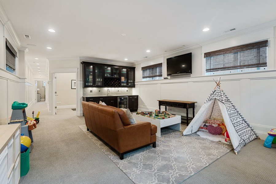 Real Estate Photography - 3023 N Hamilton Ave, Chicago, IL, 60618 - Family Room