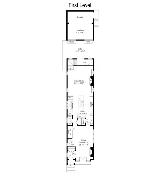 Real Estate Photography - 3023 N Hamilton Ave, Chicago, IL, 60618 - Floor Plan