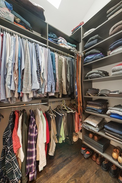 Real Estate Photography - 3023 N Hamilton Ave, Chicago, IL, 60618 - Master Bedroom Closet