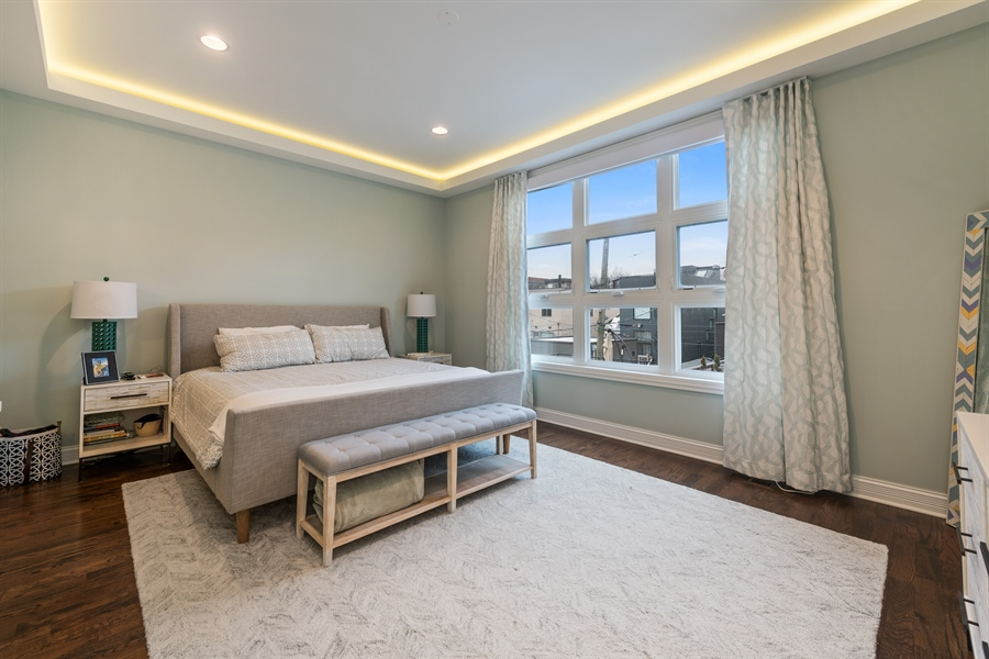 Real Estate Photography - 2639 W Medill Ave, Chicago, IL, 60647 - Master Bedroom