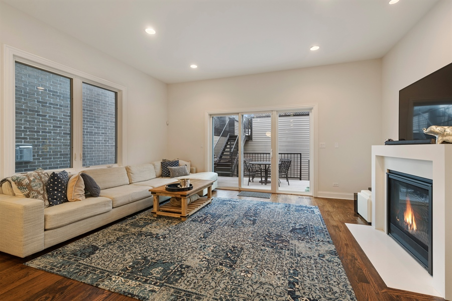 Real Estate Photography - 2639 W Medill Ave, Chicago, IL, 60647 - Family Room