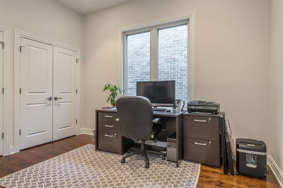 Real Estate Photography - 2639 W Medill Ave, Chicago, IL, 60647 - Office/Third Bedroom