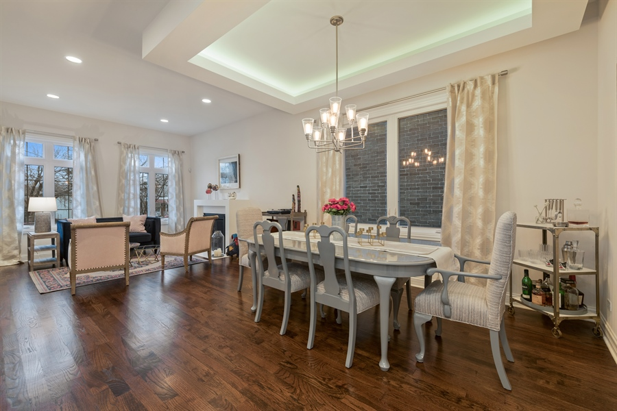 Real Estate Photography - 2639 W Medill Ave, Chicago, IL, 60647 - Living Room / Dining Room