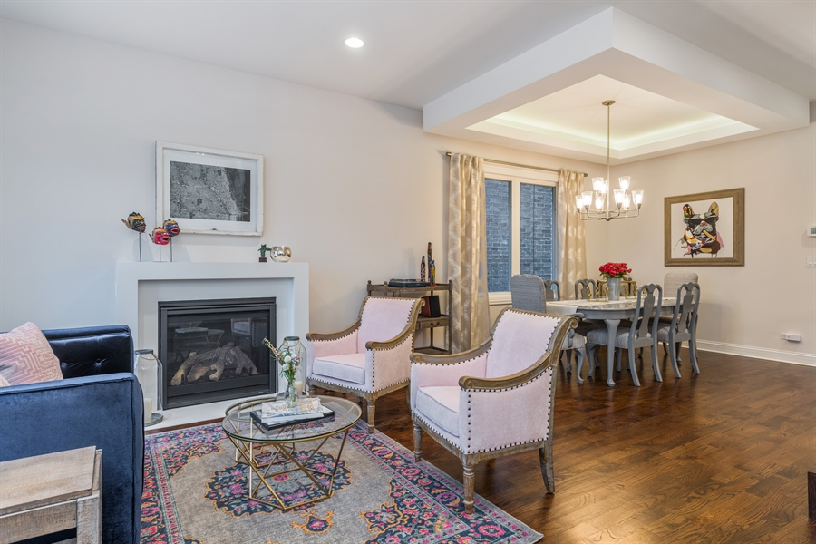 Real Estate Photography - 2639 W Medill Ave, Chicago, IL, 60647 - Living Room/Dining Room