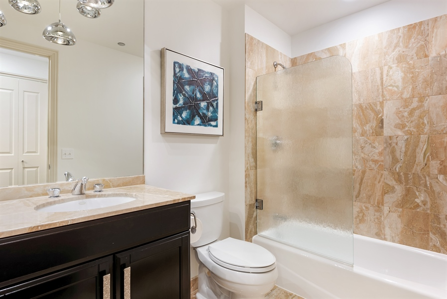 Real Estate Photography - 530 N Lake Shore Drive, Unit 2500, Chicago, IL, 60611 - 3rd Bathroom