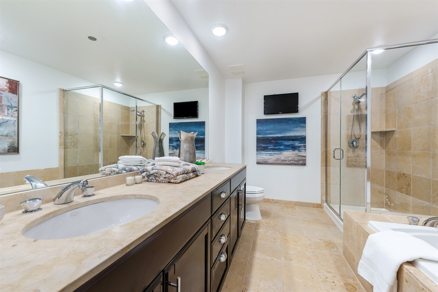Real Estate Photography - 530 N Lake Shore Drive, Unit 2500, Chicago, IL, 60611 - Master Bathroom