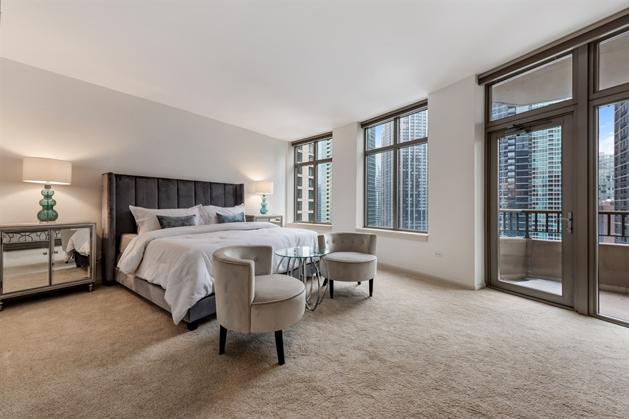 Real Estate Photography - 530 N Lake Shore Drive, Unit 2500, Chicago, IL, 60611 - Master Bedroom