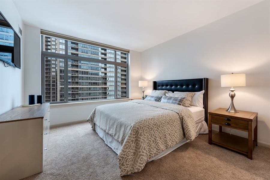 Real Estate Photography - 530 N Lake Shore Drive, Unit 2500, Chicago, IL, 60611 - 2nd Bedroom