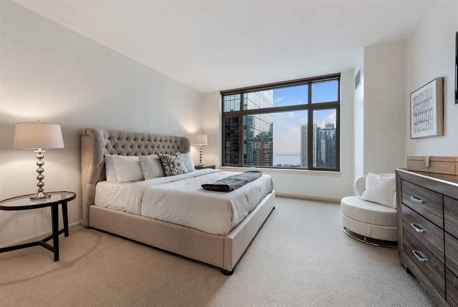 Real Estate Photography - 530 N Lake Shore Drive, Unit 2500, Chicago, IL, 60611 - 3rd Bedroom