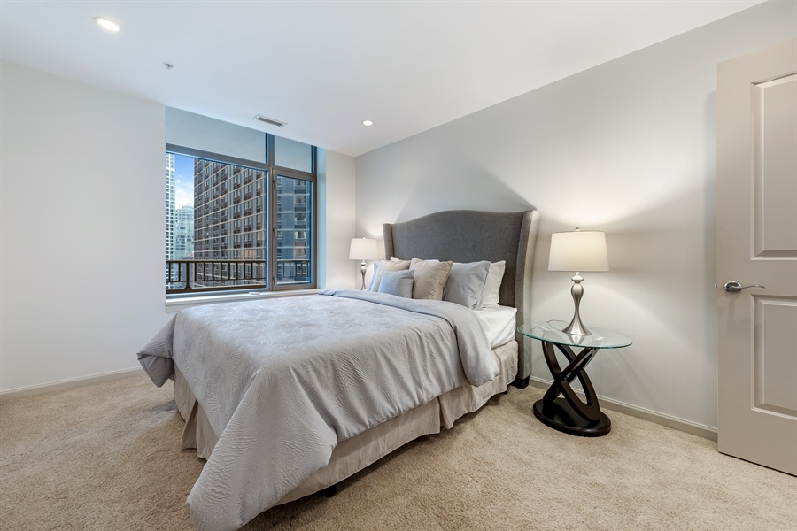 Real Estate Photography - 530 N Lake Shore Drive, Unit 2500, Chicago, IL, 60611 - 4th Bedroom