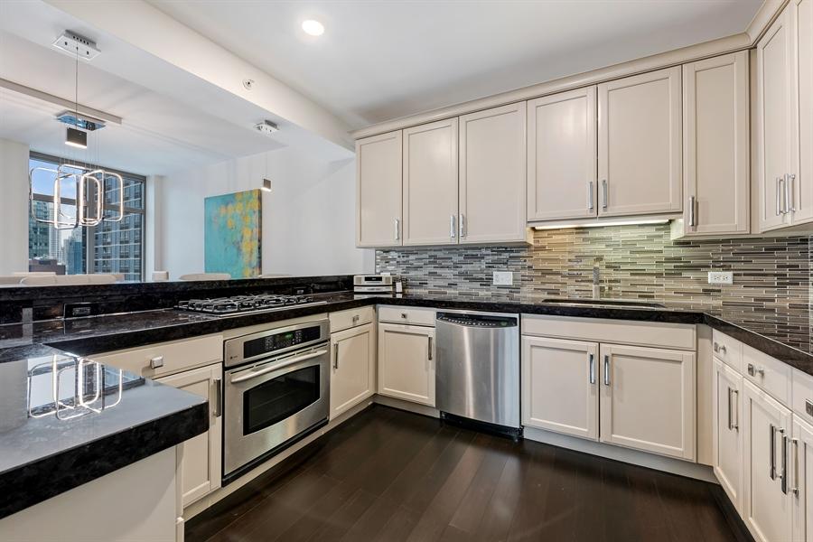 Real Estate Photography - 530 N Lake Shore Drive, Unit 2500, Chicago, IL, 60611 - Kitchen