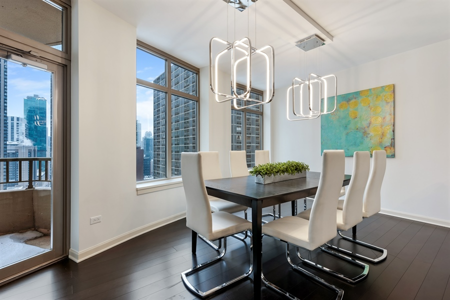 Real Estate Photography - 530 N Lake Shore Drive, Unit 2500, Chicago, IL, 60611 - Dining Room