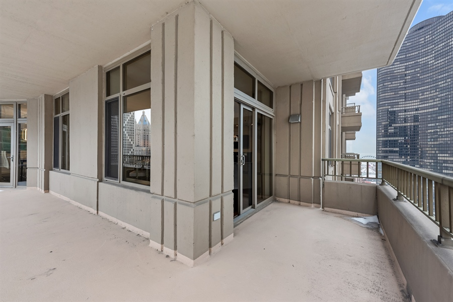 Real Estate Photography - 530 N Lake Shore Drive, Unit 2500, Chicago, IL, 60611 - Balcony