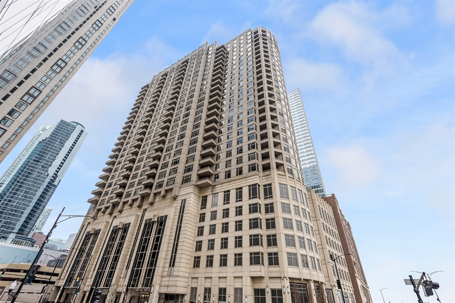 Real Estate Photography - 530 N Lake Shore Drive, Unit 2500, Chicago, IL, 60611 - Front View