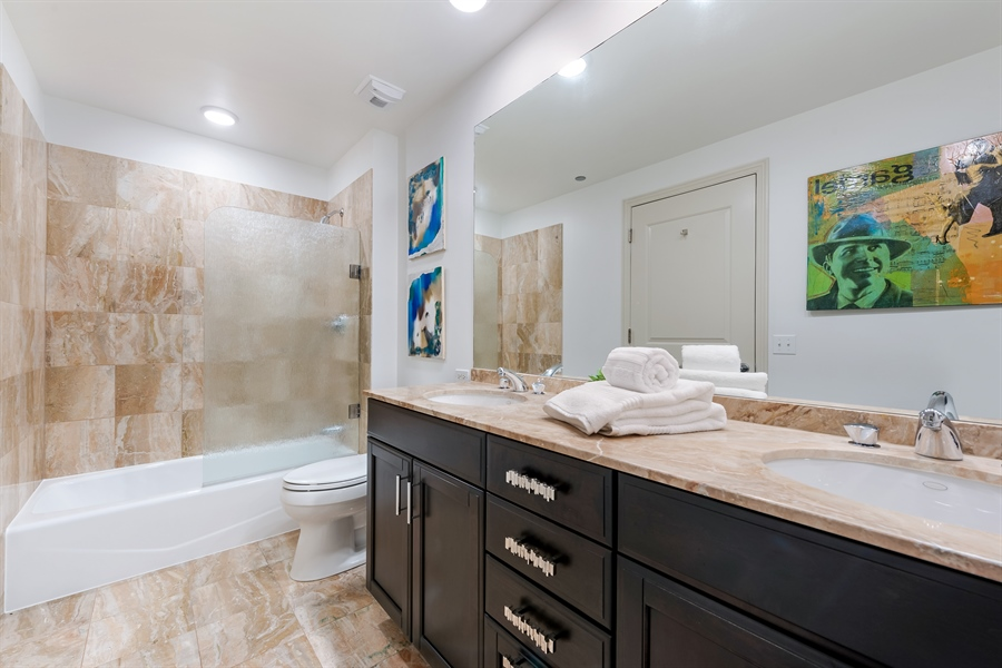 Real Estate Photography - 530 N Lake Shore Drive, Unit 2500, Chicago, IL, 60611 - 2nd Bathroom