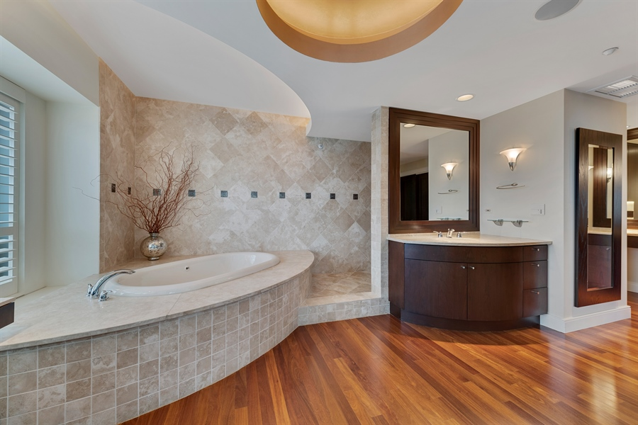 Real Estate Photography - 800 N Michigan Ave, Unit 4801, Chicago, IL, 60611 - Master Bathroom