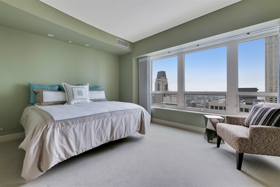 Real Estate Photography - 800 N Michigan Ave, Unit 4801, Chicago, IL, 60611 - 2nd Bedroom